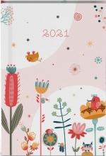 , Zakagenda 2021 fragile bloemen roze 12x8