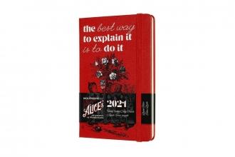 , Moleskine 12 MND Agenda - 2021 - LE Planner -  Alice In Wonderland - Wekelijks - Pocket (9x14 cm) - Cards