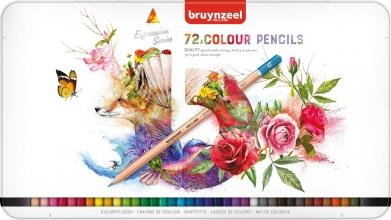 , Kleurpotloden Bruynzeel Expression colour blik à 72 stuks assorti