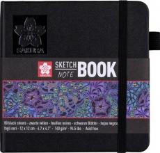 , Sakura schetsboek zwarte bladen 140 gr 12x12