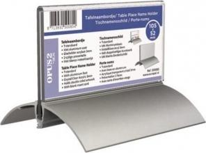 , Tafelnaambord OPUS 2 52x100mm acryl aluminium
