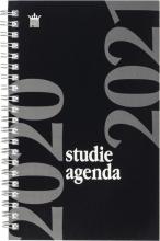 520stu112.zw , Studieagenda 2020-2021 spiraal a5 zwart