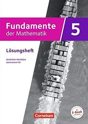 ,Fundamente der Mathematik 5. Schuljahr - Nordrhein-Westfalen - Lösungen zum Schülerbuch
