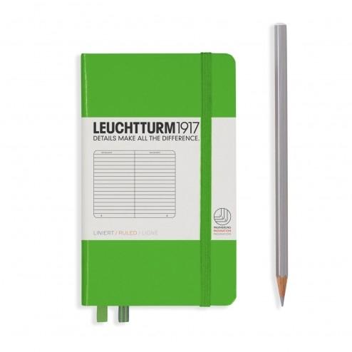 Lt357484,Leuchtturm notitieboek pocket 90x150 lijn lichtgroen