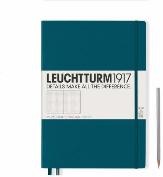 ,Leuchtturm notitieboek master slim a4 dots/puntjes pacific