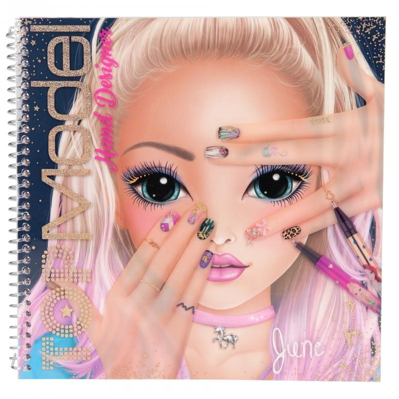 ,Topmodel create your hand design kleurboek