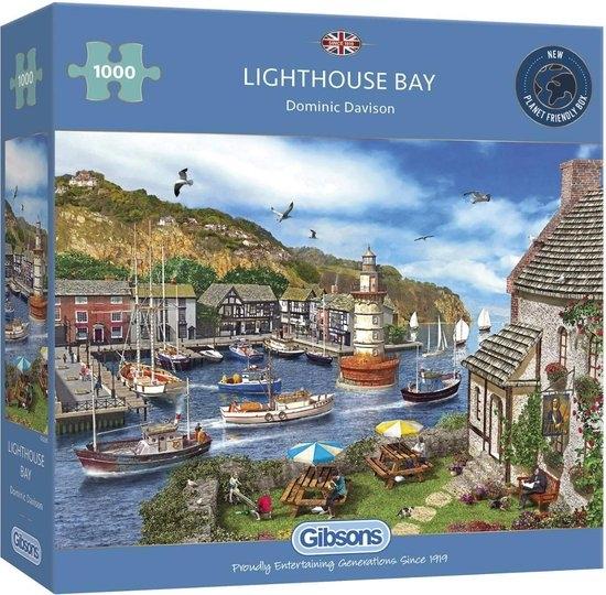Gib-g6285,Puzzel gibsons lighthouse bay 1000 stukjes 68x49cm