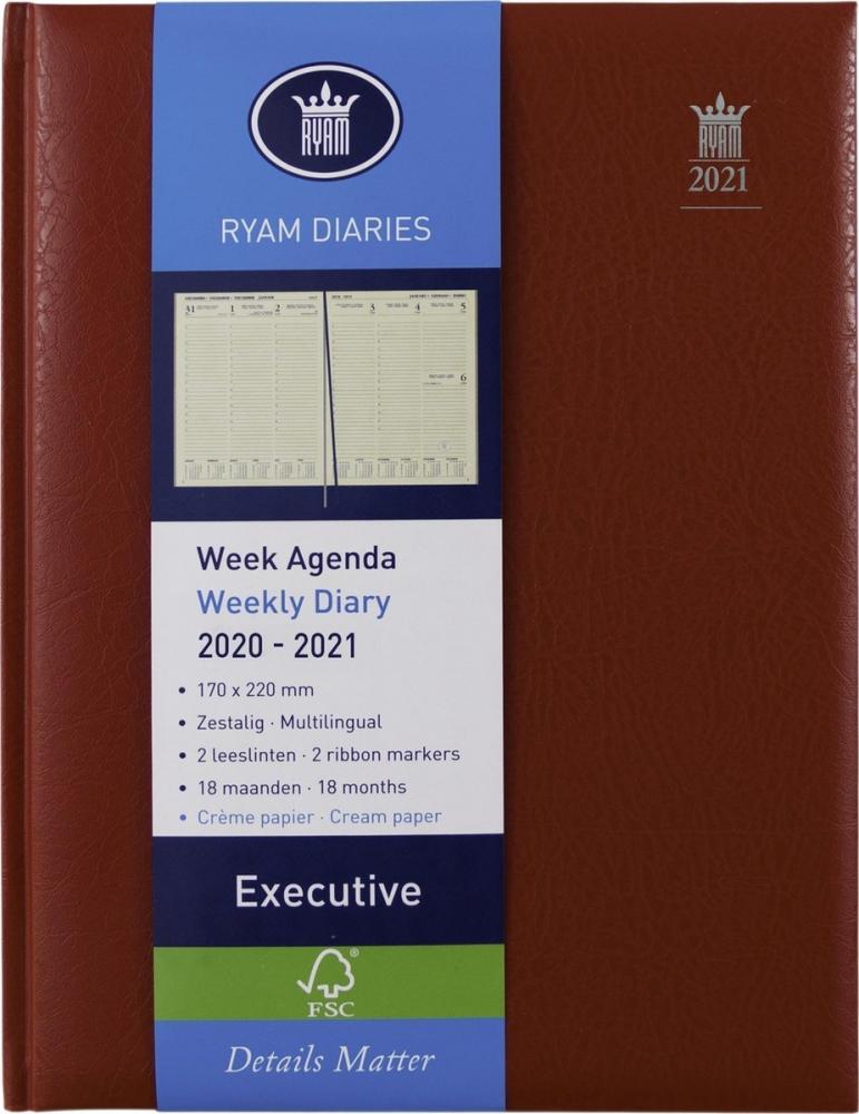 ,Ryam executive agenda 2020-2021 18 maanden 170x220 rood