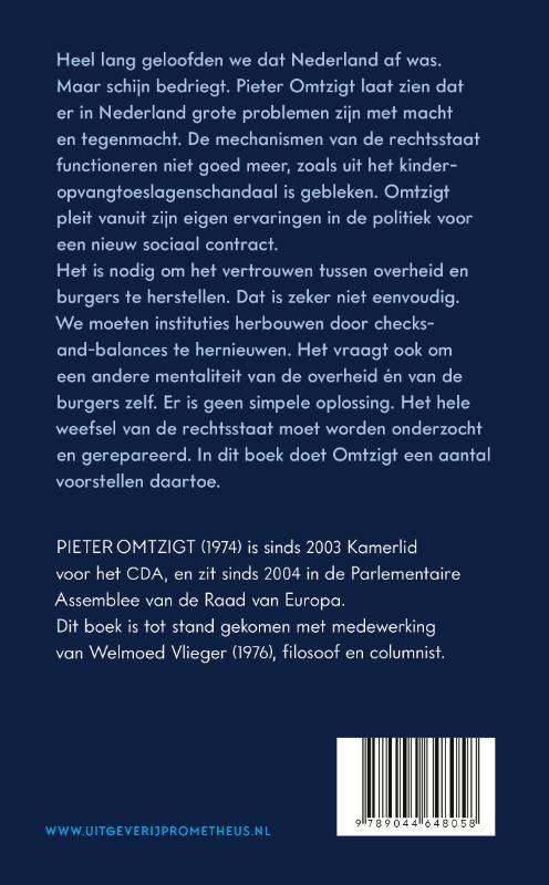 Pieter Omtzigt,Een nieuw sociaal contract