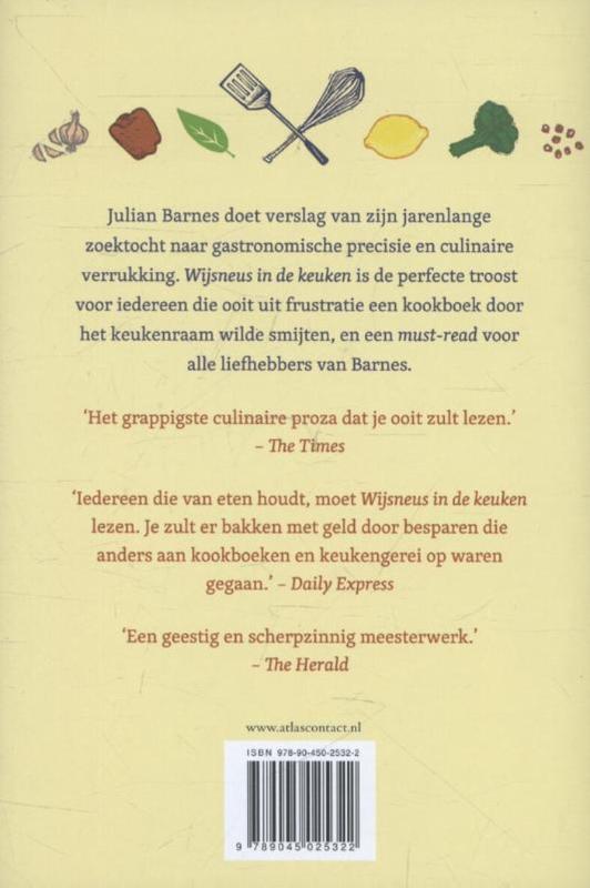 Julian Barnes,Wijsneus in de keuken