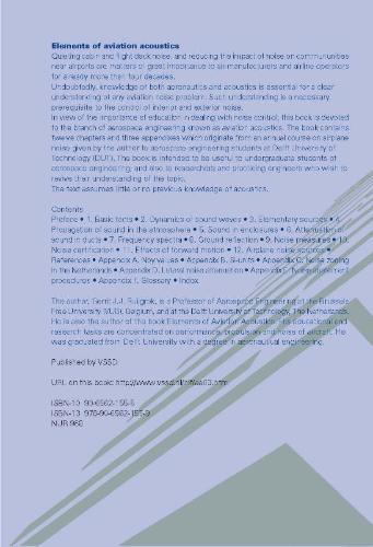 G.J.J. Ruijgrok,Elements of aviation acoustics