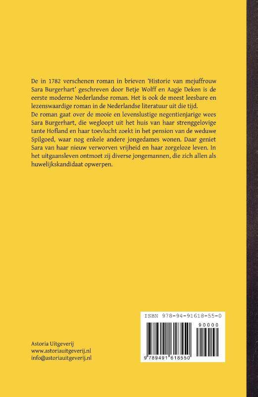 Betje Wolff, Aagje Deken,Historie van mejuffrouw Sara Burgerhart