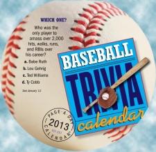 Baseball Trivia Calendar