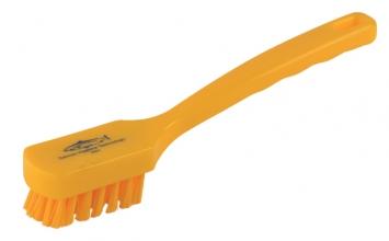 , Afwasborstel plastic met rechthoekige kop geel