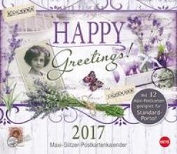 Happy Greetings Maxi-Postkartenkalender - Kalender 2017