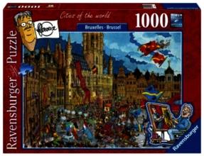 , Puzzel Ravensburger Fleroux Brussel 1000 stukjes