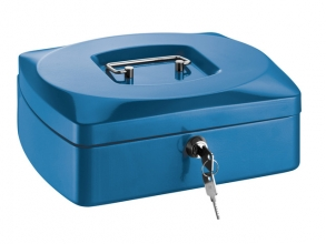 , geldkistje Alco 255x200x90mm staal blauw