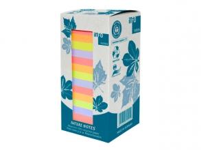 , Info notes 75x75mm 16 x 100 blaadjes, 4 kleuren, blauwe     engel, toren verpakking.