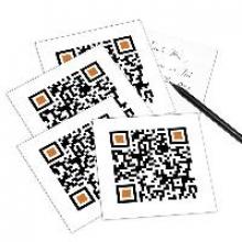 5er Set QR Code-Postkarte - mit Smartphone einscannen und Gru?botschaft erhalten: I LOVE YOU.