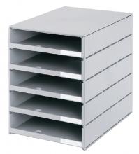, Ladenbox Styroval 5 laden grijs open