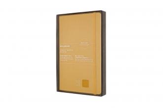 , Moleskine LE Notitieboek Leer Large (13x21cm) Gelinieerd Harde Kaft Amber Geel