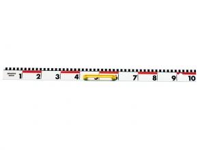 , liniaal Aristo 100cm kunststof met cm/dm maatverdeling