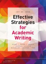 Joy de Jong , Effective strategies for academic writing
