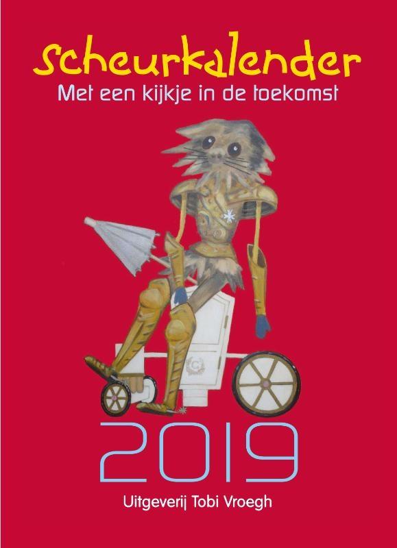 ,Scheurkalender met een kijkje in de toekomst 2019