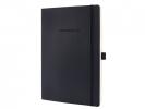 ,notitieboek Sigel Conceptum Pure softcover A4 zwart geruit