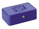 ,geldkistje Alco 250x170x90mm staal blauw