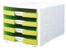 ,ladenkast HAN Impuls wit/     lemmon incl. 4 etiketten 294x368x235mm                      open laden