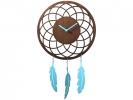 ,wandklok NeXtime 41 x 24 cm   hout, bruin, `Dreamcatcher`