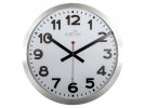 ,Wandklok NeXtime dia. 35 cm, aluminium, wit, `Station`      Radio Controlled (DCF)
