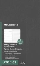 Moleskine 2016-2017 Weekly Notebook Diary Planner, Large, Black