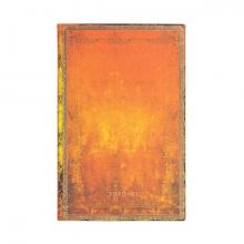 Fe4495-6 , Paperblanks agenda 2020-2021 18 mnd flexis maxi clay rust verticaal week op 2 pa