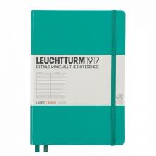 Lt344788 , Leuchtturm pocket notitieboek 90x150 dots/puntjes emerald groen