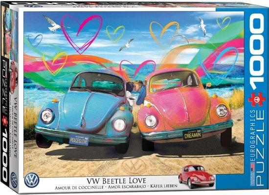 Eur-6000-5525,Puzzel vw beetle love parker greenfield eurographics 1000 stukjes