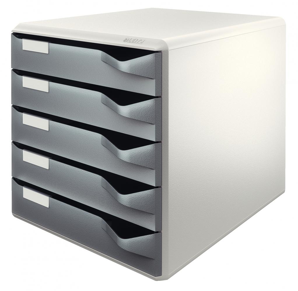 ,Ladenblok Leitz 5280 5 laden grijs