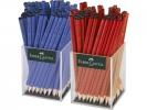 , potlood Faber Castell GRIP 2001 2 kokers a 72 stuks         blauw/rood