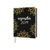 ,<b>Zakagenda 2019 mini blaadjes goud/zwart</b>