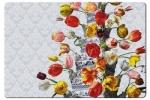 Pm747 , Placemat bloemstilleven met tulpenvaas roman reisinger