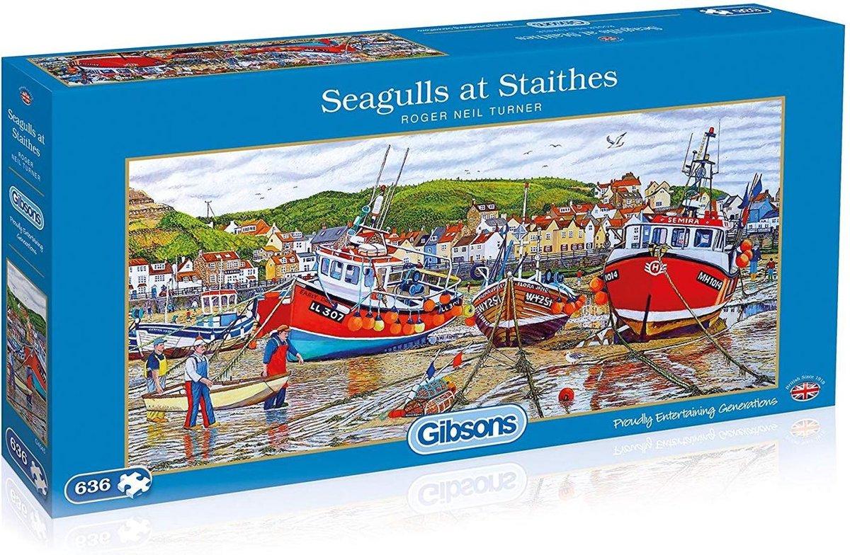 Gib-g4045,Puzzel gibsons seagulls at staithes 636 stukjes