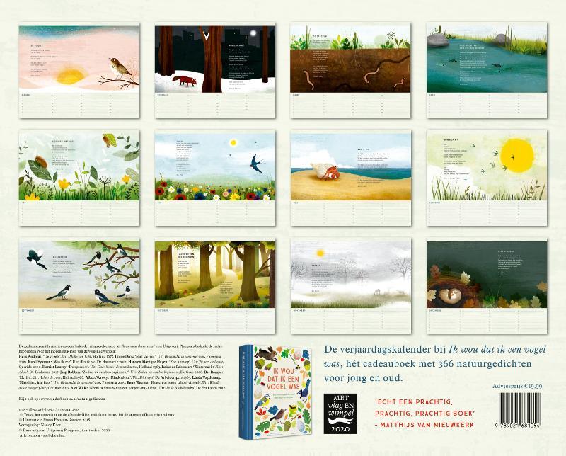 Diverse auteurs,Verjaardagskalender Ik wou dat ik een vogel was