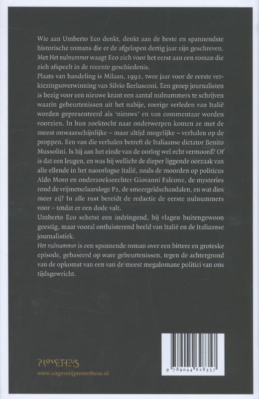 Umberto Eco,Het nulnummer