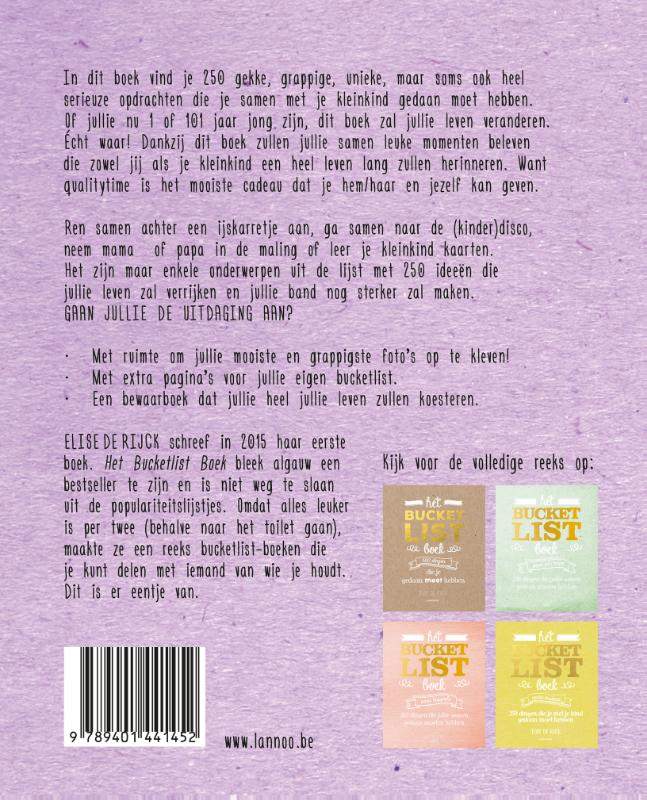 Elise de Rijck,Het Bucketlist Boek voor grootouders