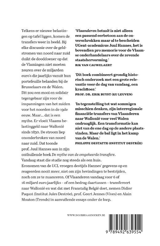 Juul Hannes,Vlaanderen betaalt