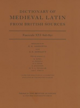 Dictionary of Medieval Latin from British Sources