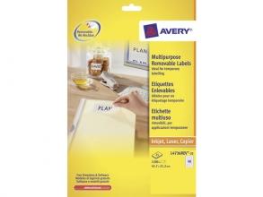 , etiket Avery ILK 45,7x21,2mm wit NP 25 vel 48 etiketten per vel