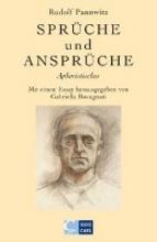 Pannwitz, Rudolf Sprüche und Ansprüche