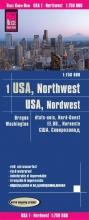 , Reise Know-How Landkarte USA 01, Nordwest (1:750.000) : Washington und Oregon